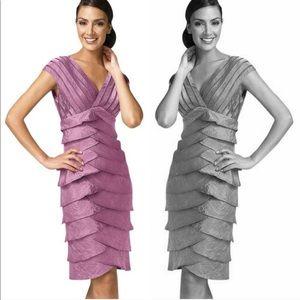 Adrianna Papell purple layer bodycon dress